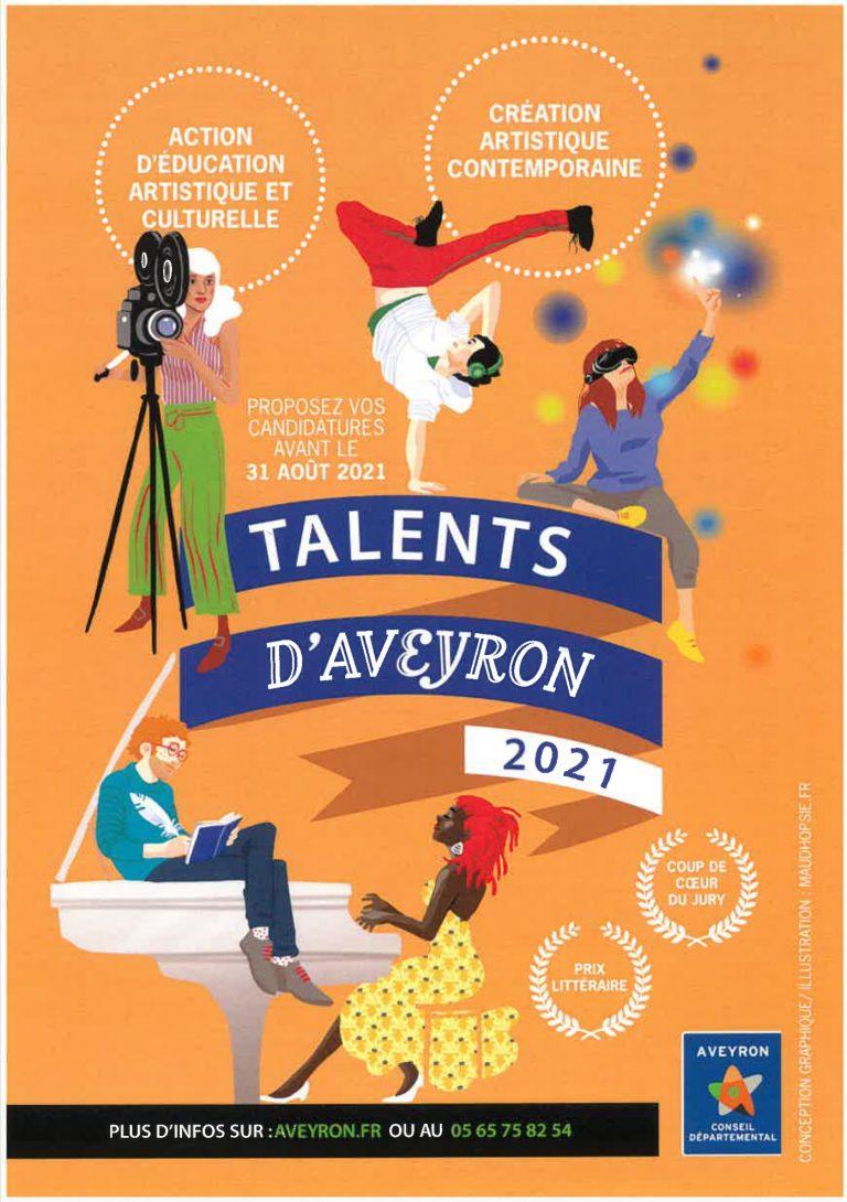 Appel à candidature pour le concours Talents d'Aveyron 2021